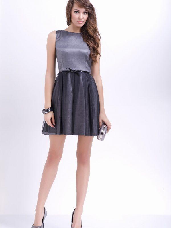 Sukienka Natalie w kolorze srebrnym