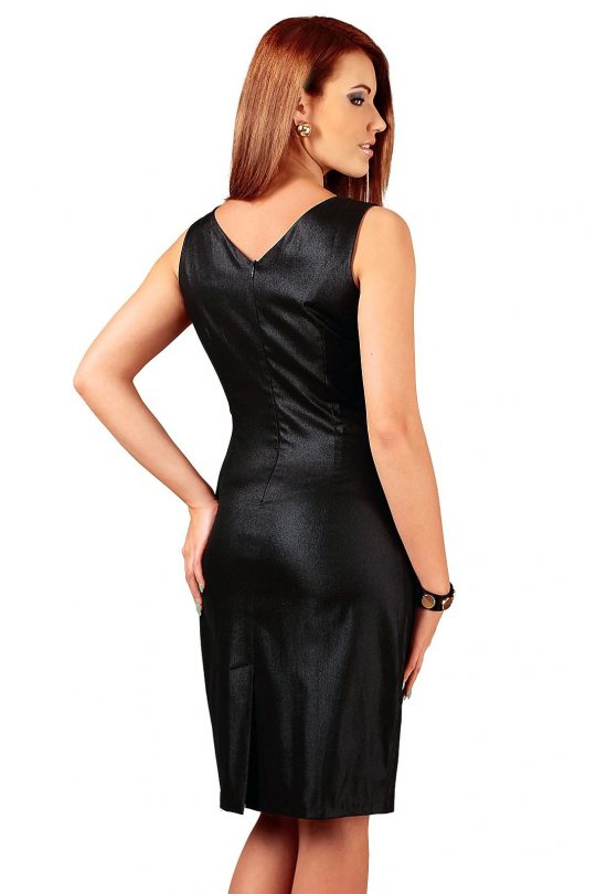 Sukienka Oriana czarna ze srebrnym