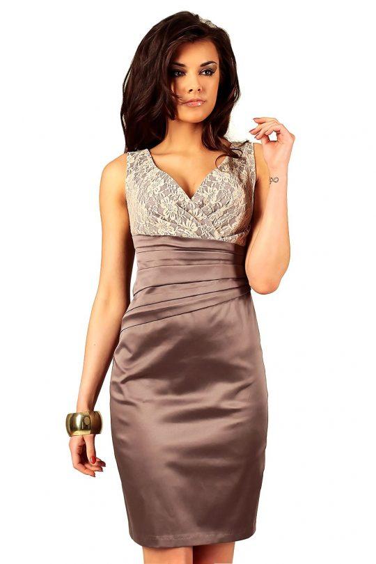 Sukienka Oriana w kolorze cappucino