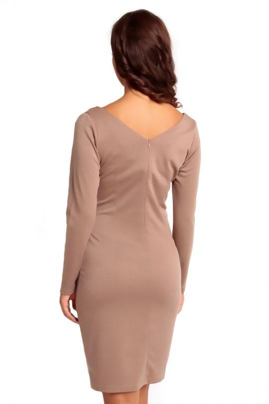 Sukienka ORIANA KNITWEAR w kolorze beżowym