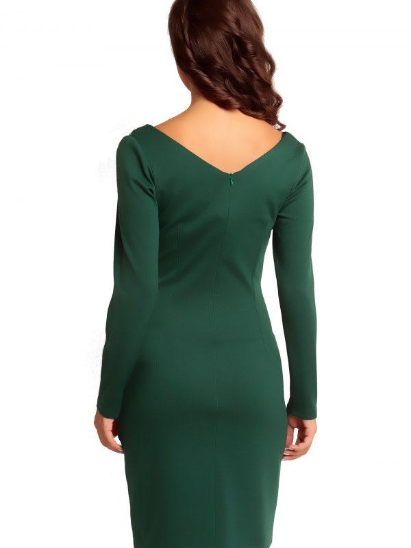 Sukienka ORIANA KNITWEAR w kolorze zielonym