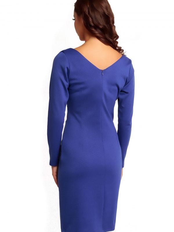 Sukienka ORIANA KNITWEAR w kolorze szafirowym