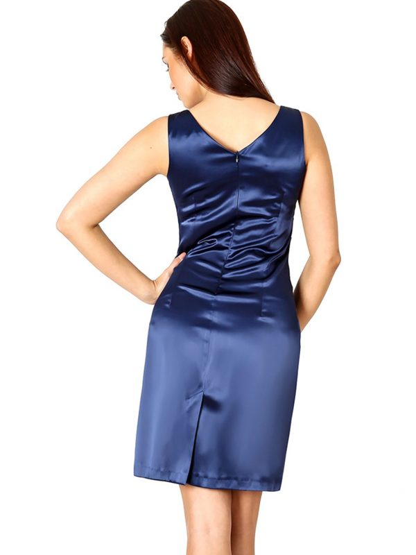 Sukienka Oriana granatowa z koronką