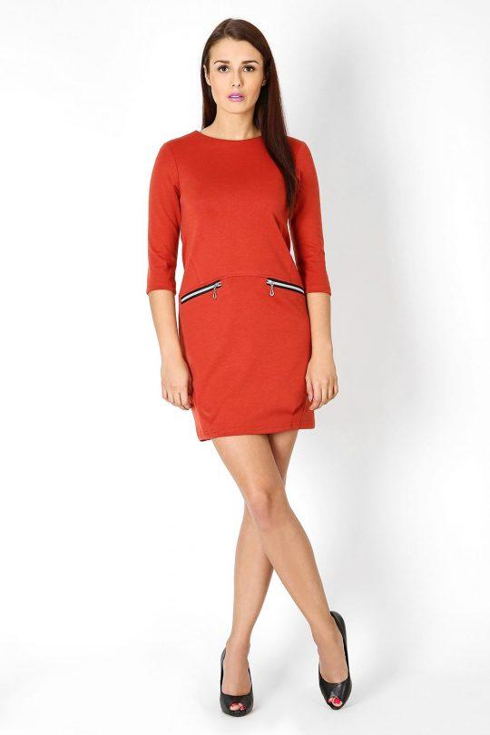Sukienka Oxana w kolorze popielatym