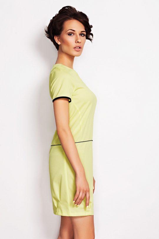 Sukienka Oxana w kolorze limonka