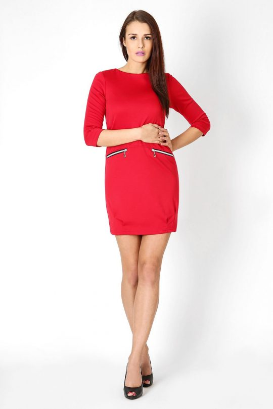 Sukienka Oxana w kolorze czerwonym