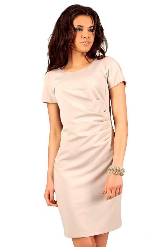 Sukienka Rachela w kolorze beżowym