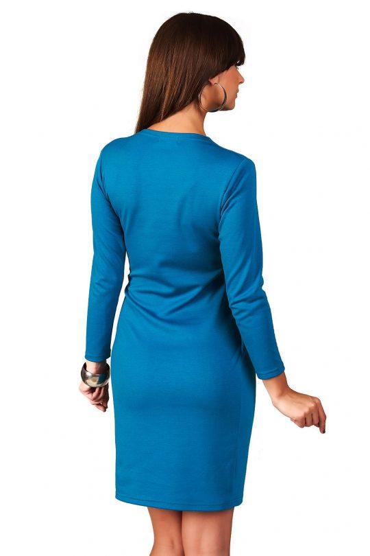 Sukienka Rebeka w kolorze paryski błękit