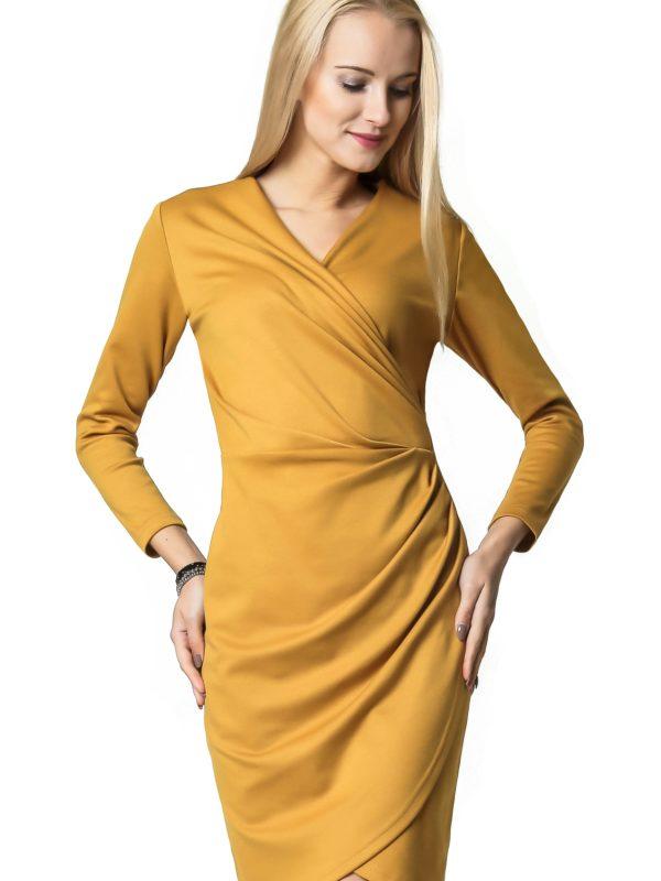 Sukienka Rebeka w kolorze miodowym