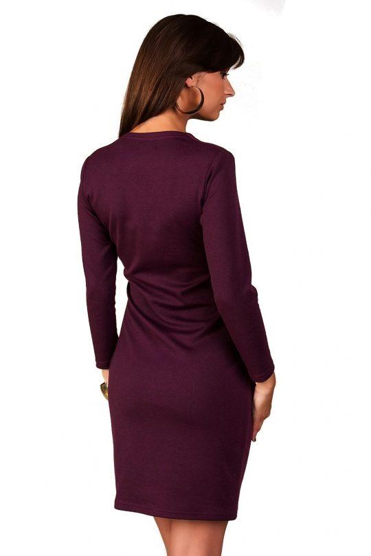 Sukienka Rebeka w kolorze śliwki