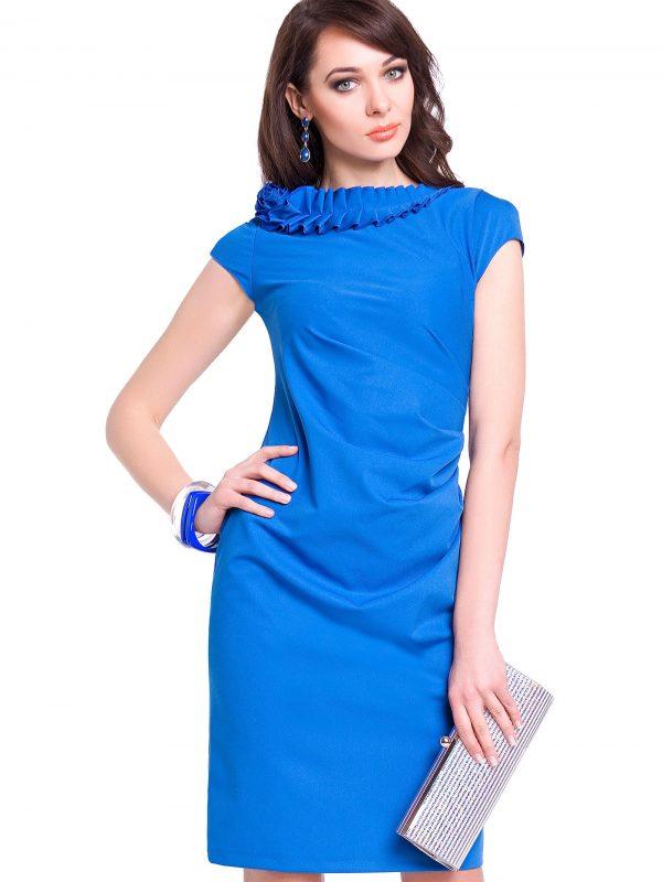 Sukienka Salome w kolorze chabrowym