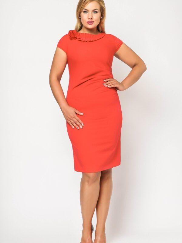 Elegancka sukienka wizytowa Salome czerwona