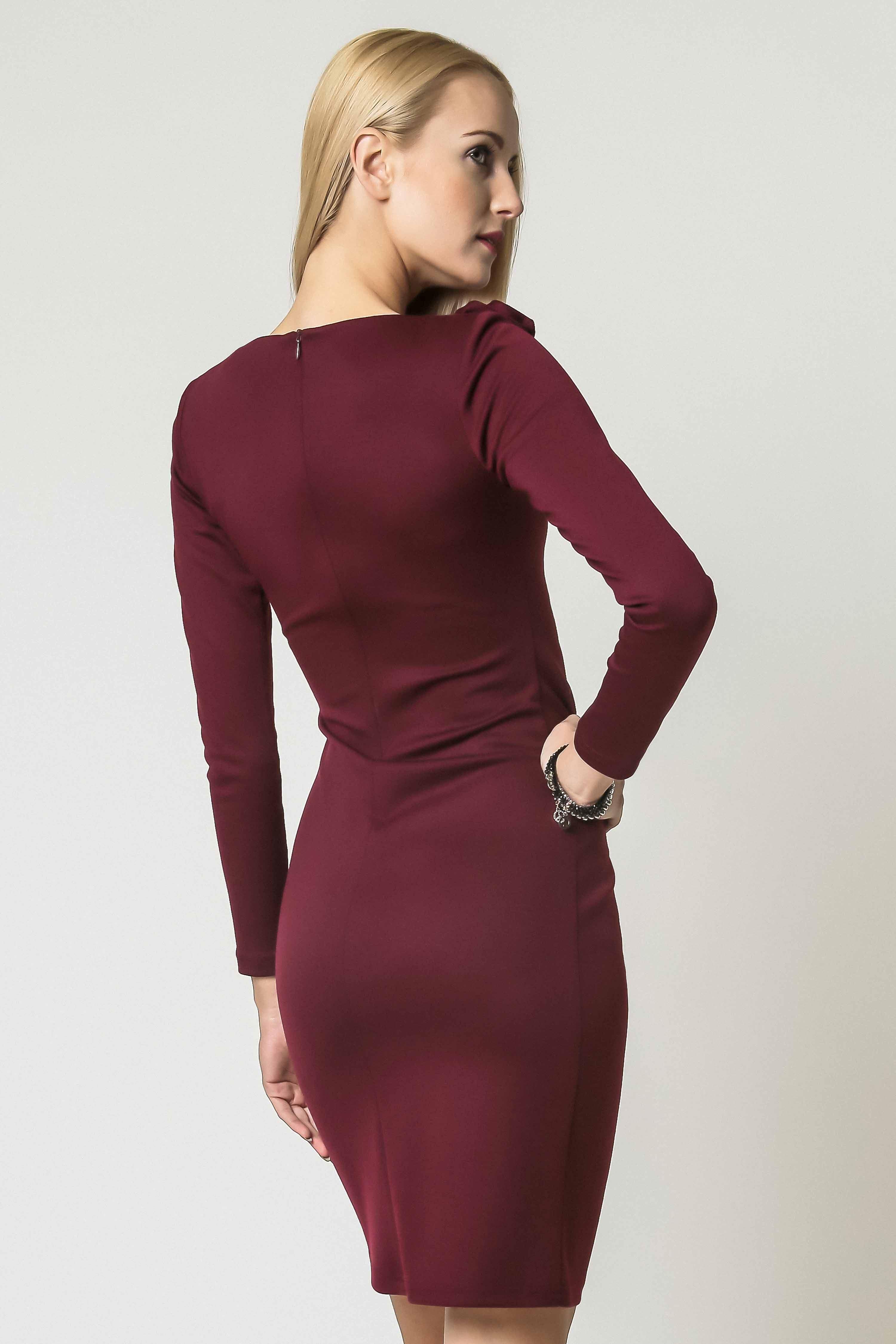 Sukienka Sara w kolorze bordowym