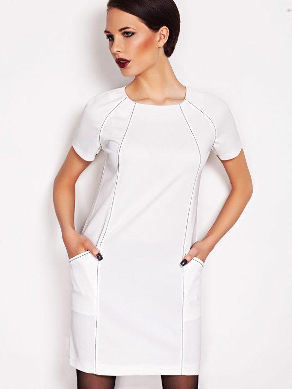 Sukienka Sendy w kolorze ecru