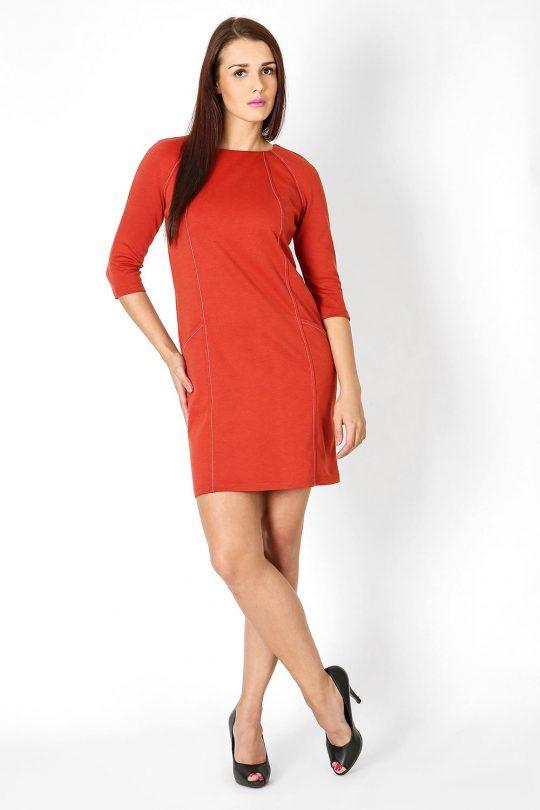 Sukienka Sendy w kolorze rudym