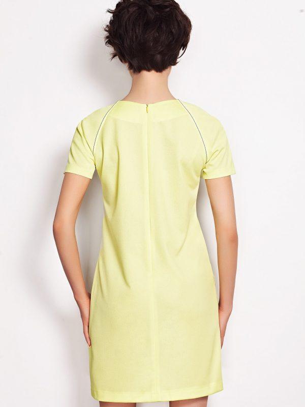 Sukienka Sendy w kolorze limonka