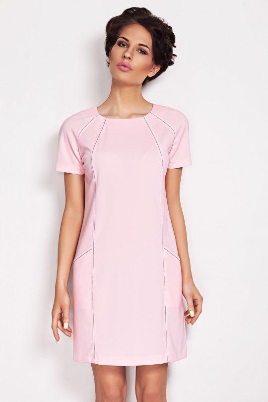 Sukienka Sendy w kolorze pudrowym