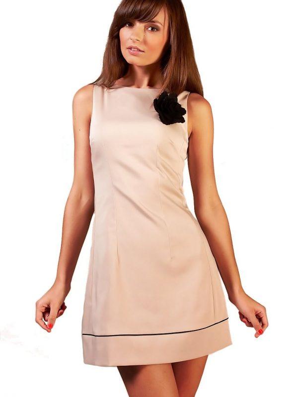 Sukienka Simone w kolorze cappucino