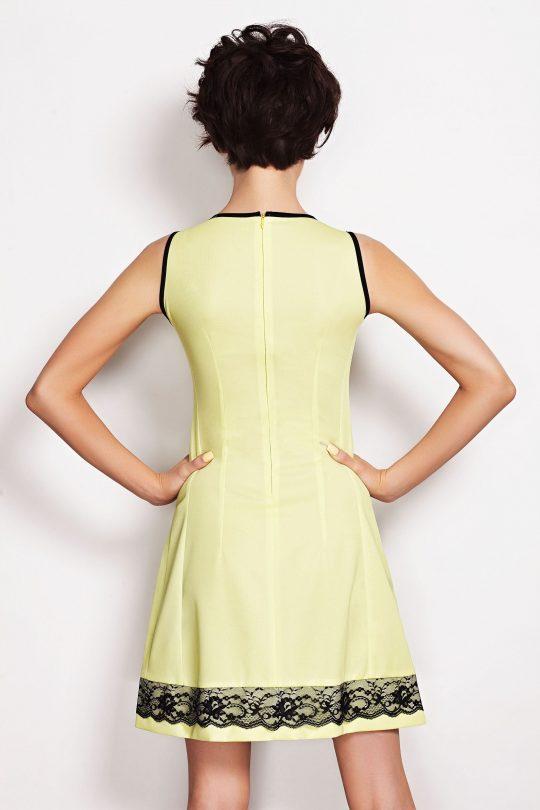 Sukienka SIMONE SOMMER w kolorze limonka
