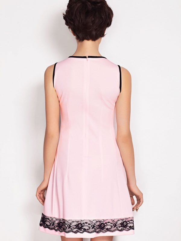 Sukienka SIMONE SOMMER w kolorze pudrowym