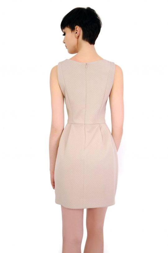 Sukienka Solange w kolorze beżowym