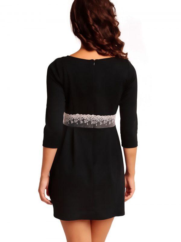 Sukienka SOLANGE KNITWEAR w kolorze czarnym