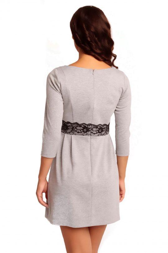 Sukienka SOLANGE KNITWEAR w kolorze popielatym