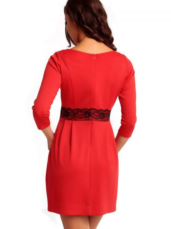 Sukienka SOLANGE KNITWEAR w kolorze czerwonym
