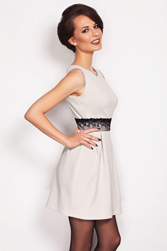 Sukienka SOLANGE KORONKA w kolorze limonka