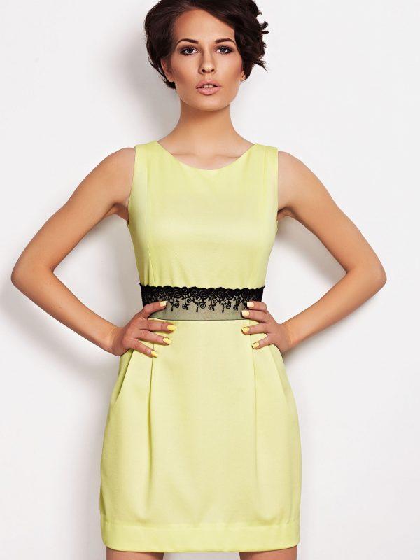 Sukienka SOLANGE KORONKA w kolorze ecru