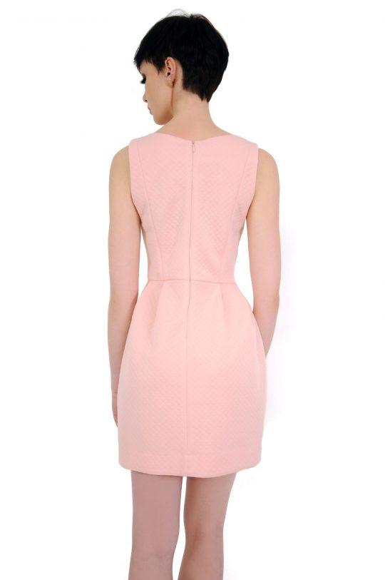 Sukienka Solange w kolorze pudrowym