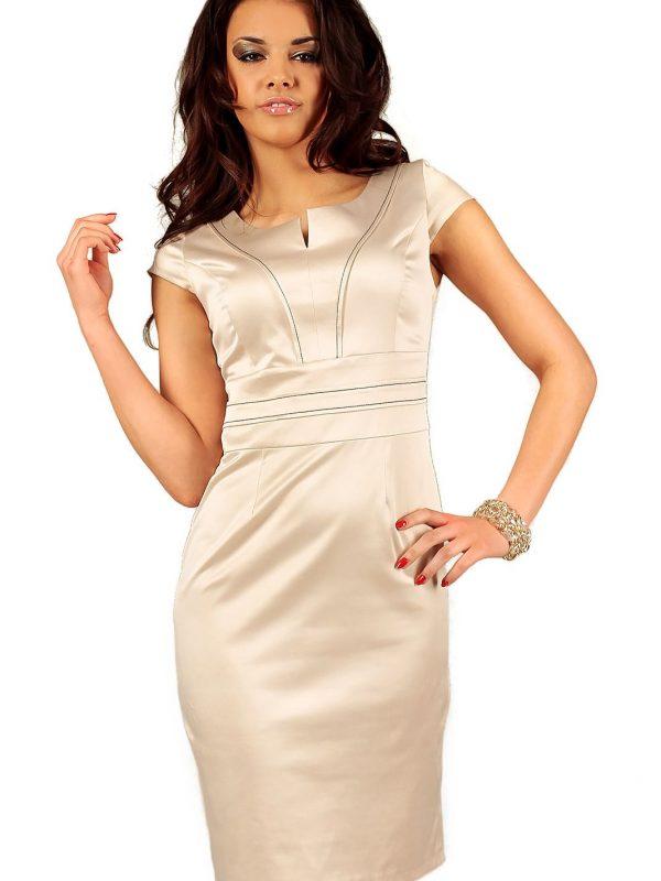 Sukienka Tamara w kolorze beżowym