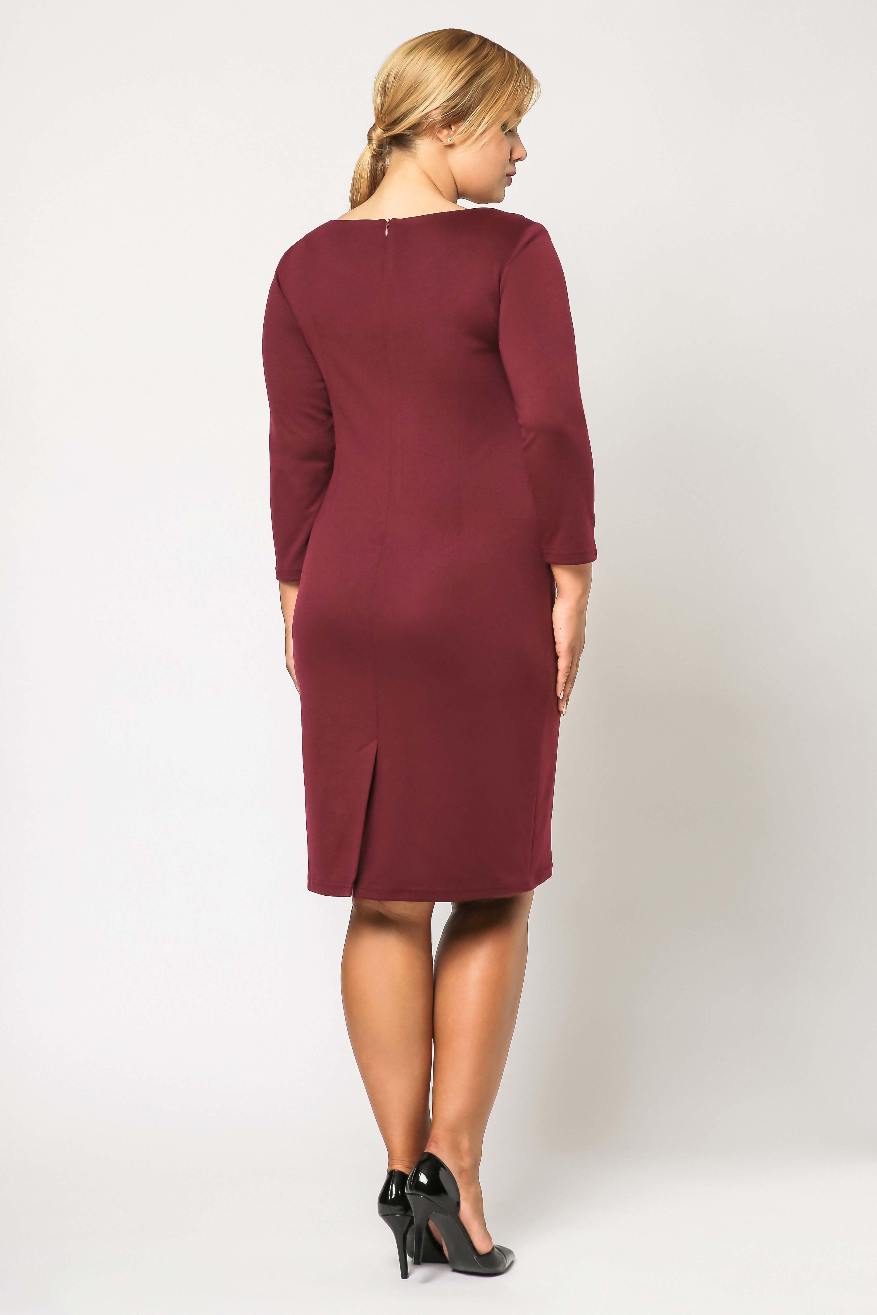 Sukienka Tamara Knitwear w kolorze bordowym