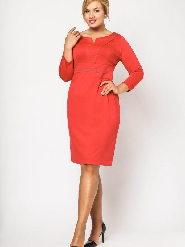 Sukienka Tamara Knitwear w kolorze czerwonym