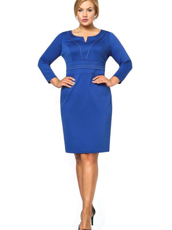 Sukienka Tamara Knitwear w kolorze chabrowym
