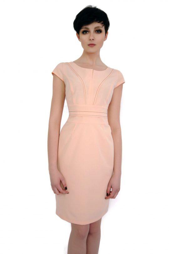 Sukienka Tamara w kolorze pudrowym
