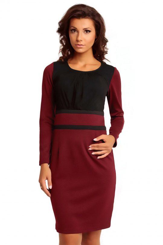 Sukienka VALERIE KNITWEAR w kolorze bordowym