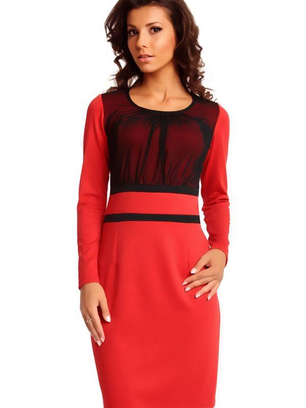 Sukienka VALERIE KNITWEAR w kolorze czerwonym