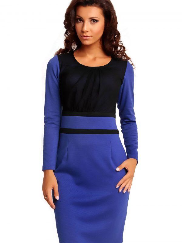 Sukienka VALERIE KNITWEAR w kolorze szafirowym