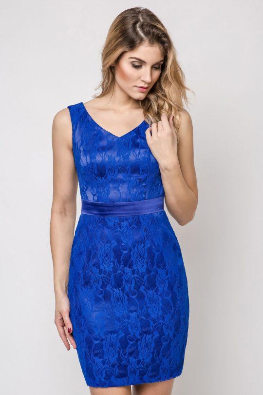Sukienka Vanda w kolorze niebieskim