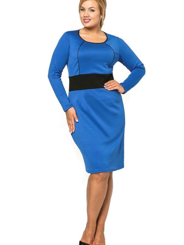 Sukienka Viktoria w kolorze chabrowym