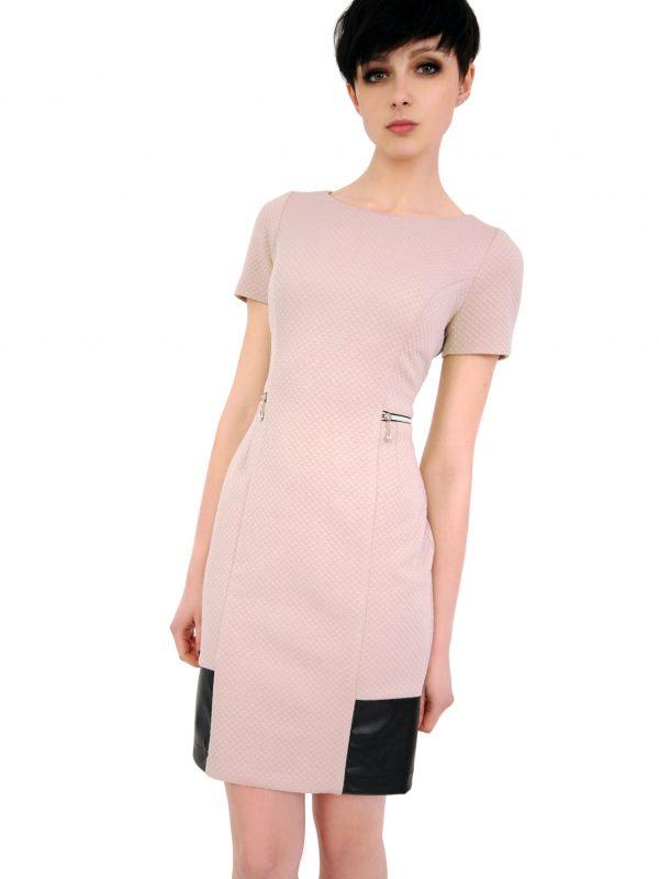 Sukienka Violette w kolorze beżowym