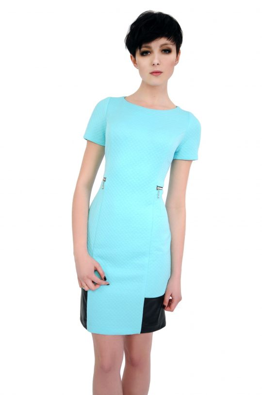 Sukienka Violette w kolorze turkusowym