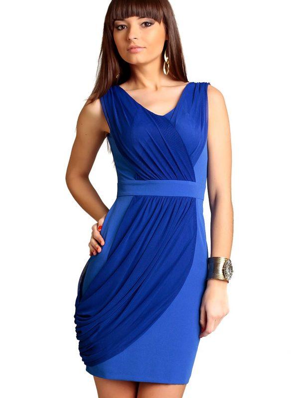 Sukienka Vivienne w kolorze chabrowym