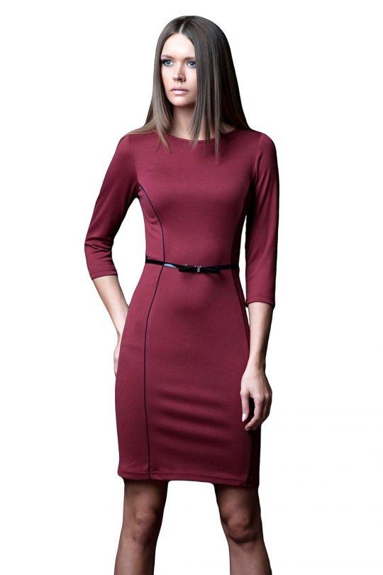 Sukienka Pola w kolorze bordowym