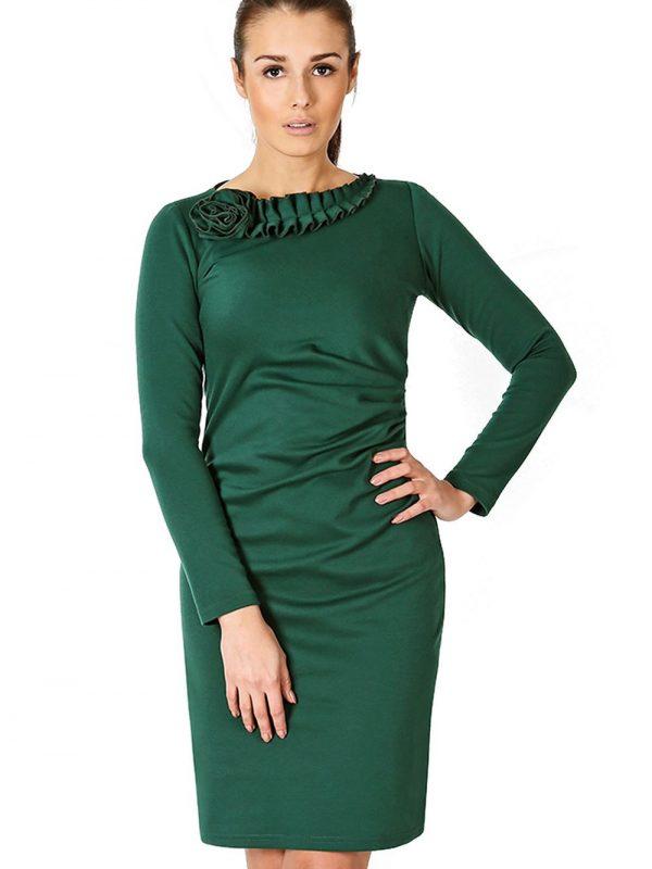 Sukienka Sara w kolorze zielonym