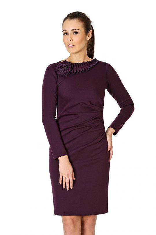 Sukienka Sara w kolorze śliwkowym