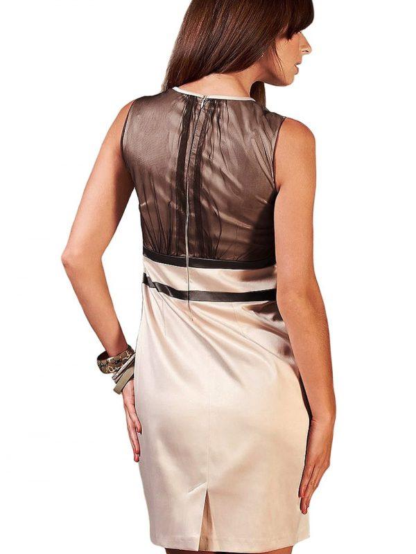 Sukienka VALERIE w kolorze brązowym